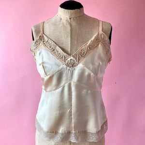Couture Cantarelli Silk and Lace Camisole Top NWT